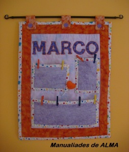 Tapiz infantil Marco patchwork,abre nueva ventana
