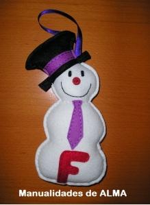 Muñeco de nieve en fieltro ,abre nueva ventana